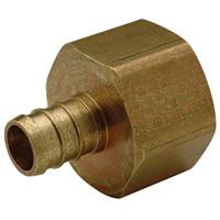 "QQUFC55GFX - XL Brass Female Adapter - 1"" barb x 1"" FPT"