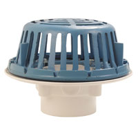 """RD2120-AB2 - 2"""" ABS Roof Drain with Plastic Dome"""