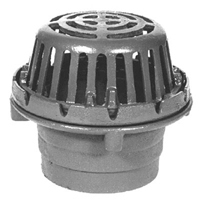 """8-3/8"""" Diameter Roof Drain with Low Silhouette Dome"""