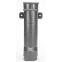 "Z191-RD 4"" x 18"" Downspout Boot with Round Inlet and Outlet"