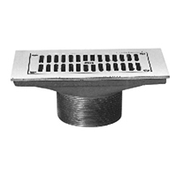 """Z400J """"Type J"""" Rectangular Strainer with Slotted Opening"""
