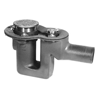 """Z456 Deep Seal Trap Drain with Floor Cleanout and """"Type B"""" Strainer"""