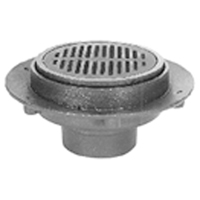 "Z525 9"" Diameter Adjustable Medium-Duty Drain"