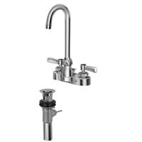 "Z812A1-XL-P - AquaSpec® centerset 3-1/2"" gooseneck faucet with lever handles and pop-up drain"