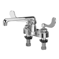 "Z812F4-XL - AquaSpec® centerset 6"" cast spout with 4"" wrist blade handles"