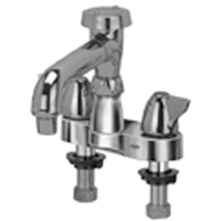 """AquaSpec® centerset 6"""" vacuum breaker spout with aerated outlet amd dome lever handles"""