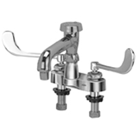 """Z812Q6 - AquaSpec® centerset 6"""" vacuum breaker spout with aerated outlet and 6"""" wrist blade handles"""