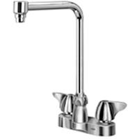 """Z812S3-XL - AquaSpec® centerset 8"""" bent riser spout with dome lever handles"""