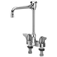 """Z812U3-XL - AquaSpec® centerset 6"""" hi-rise vacuum breaker spout with dome lever handles"""