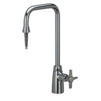 "Z82800 - AquaSpec® deionized lab faucet with 6"" spout, serrated nozzle and cross handle"