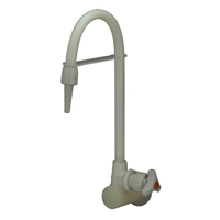 Z82900-WM - AquaSpec® polypropylene wall-mount lab faucet with serrated nozzle for distilled water