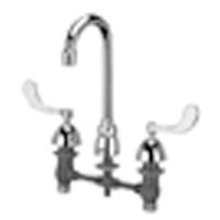 "Z831A4-XL - AquaSpec® widespread faucet with 3-1/2"" gooseneck and 4"" wrist blade handles"