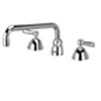 "Z831H1-XL - AquaSpec® widespread faucet with 12"" tubular spout and lever handles (lead free)"