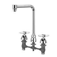 """AquaSpec® widespread faucet with 8"""" bent riser spout and cross handles"""