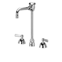 "AquaSpec® widespread faucet with 4-1/2"" vacuum breaker spout and lever handles"