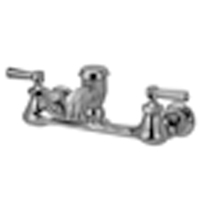 """AquaSpec® wall-mount sink faucet with 2-1/2"""" vacuum breaker spout and lever handles, rough chrome plated"""
