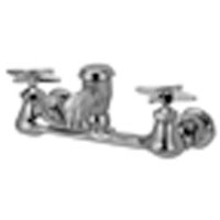 """AquaSpec® wall-mount sink faucet with 2-1/2"""" vacuum breaker spout and cross handles (rough chrome plated)"""