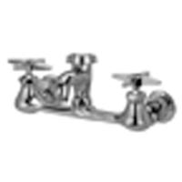 "Z842L2 - AquaSpec® wall-mount sink faucet with 2-1/2"" vacuum breaker spout and cross handles"
