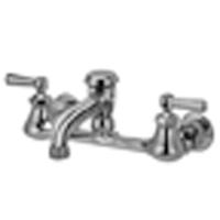 "AquaSpec® wall-mount faucet with 6"" vacuum breaker spout, lever handles and 3/4"" hose end"