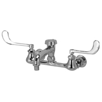 """Z842Q6 - AquaSpec® wall-mount faucet with 6"""" vacuum breaker spout, 6"""" wrist blade handles and aerated outlet"""
