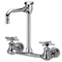 "Z842T2 - AquaSpec® wall-mount faucet with 4-1/2"" vacuum breaker spout and cross handles"