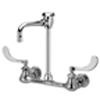 "Z842T4 - AquaSpec® wall-mount faucet with 4-1/2"" vacuum breaker spout and 4"" wrist blade handles"