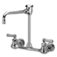 """Z842U1 - AquaSpec® wall-mount faucet with 6"""" vacuum breaker spout and lever handles"""