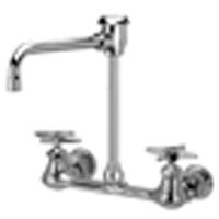 """Z842U2 - AquaSpec® wall-mount faucet with 6"""" vacuum breaker spout and cross handles"""