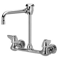 "Z842U3 - AquaSpec® wall-mount faucet with 6"" vacuum breaker spout and dome lever handles"