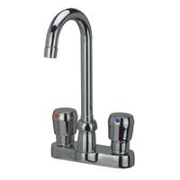 """AquaSpec® 4"""" centerset deck-mount 3-1/2"""" gooseneck metering faucet with pop-up drain"""