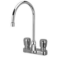 "Z866C0-XL-P - AquaSpec® 4"" centerset deck-mount 8"" gooseneck metering faucet with pop-up drain"