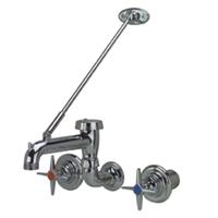 """Z873M2-SE - AquaSpec® service sink faucet with 9-1/8"""" vacuum breaker spout, cross handles, concealed valve"""