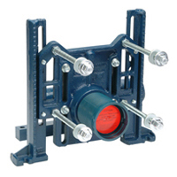 Adjustable Horizontal Siphon Jet 500 lb. No-Hub Water Closet Carrier with Heavy-Duty Rear Anchor Tie Down