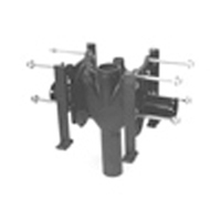 Z1204-ND Adjustable Vertical Back-To-Back Siphon Jet No-Hub Water Closet Carier