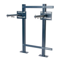 Concealed Arm System for Wall Lavatories with Adjustable Uprights and Header Plates