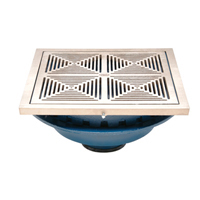 "Z150-DT 14"" Square Top Prom-Deck Drain with Decorative Grate and Rotatable Frame"