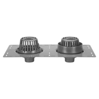 "Z165 8-3/8"" Diameter Combination Main Roof and Overflow Drain with Low Silhouette Domes and Double Top-Set® Deck Plate"