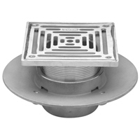 "Z1727 5"", 6"" or 8"" Square Top Adjustable Medium-Duty Floor Drain"