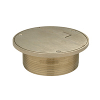 """Z400D  """"Type D"""" Round Strainer with Solid Hinged Cover"""