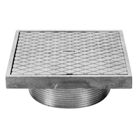 "Z400SC ""Type SC"" Square Strainer with Solid Hinged Cover"