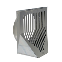 Stainless Steel Downspout Nozzle with Hinged Cover