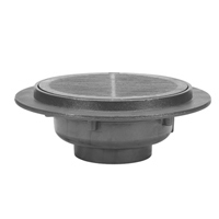 "Z547 21"" Heavy-Duty Heel-Proof Parking Deck Drain with Support Flange"