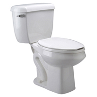 2-Piece Pressure-Assist, Siphon Jet Toilet, 1.1 gpf, Elongated, Standard Height, White Vitreous China