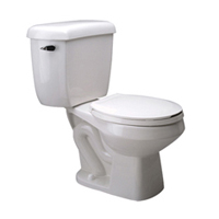 1.1 gpf Pressure Assist, Round Front, Two-Piece Toilet