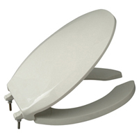 Open front with cover, extra heavy duty toilet seat