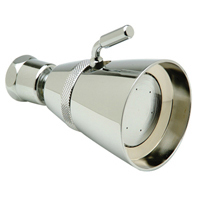 Z7000-S5-1.25, 1.5, 1.75, 2.0 Large Brass Shower Head, 1.25, 1.5, 1.75, and 2.0 GPM