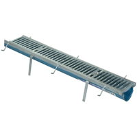 Fiber Reinforced Polymer Trench Drain System with Heavy-Duty Galvanized Frame Assembly