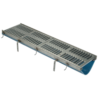 Fiber Reinforced Polymer Trench Drain System with Stainless SteelFrame Assembly