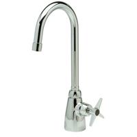 "Z825B2-XL - AquaSpec® single-control lab faucet with 5-3/8"" gooseneck and cross handle"