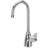 """AquaSpec® single-control lab faucet with 5-3/8"""" gooseneck and dome lever handle"""